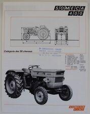 prospectus brochure SOMECA 400  tractor traktor prospekt fiat tracteur dépliant