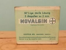 Vintage very rare unopened medicine - NOVALGIN BAYER from 30's
