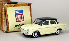 Norev 1/43 Scale - Simca P60 1960 Cream / Blue Roof Diecast model car