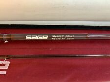 "SAGE 586LL Graphite II (Light Line) 5wt 8'6"" Fly Fishing Rod w orig sock & tube"