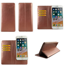 For All Sony Phones - Rose Gold Leather Flip Screen Cover Case