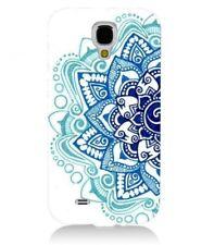 Coque Galaxy S4 Mandala 2 Aztec ethnique Fleur Bleu doodling