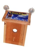 My Window Birdhouse~Spy On Birds~Real Wood Not Plastic Like Others 100% Usa Made