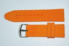 26mm Silikon Uhrenarmband in Orange mit Breitdornschliesse Top Qualität Neu