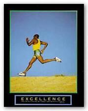 AFRICAN AMERICAN ART PRINT Excellence Runner Motivational