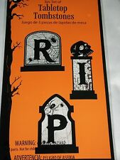 Halloween Tabletop Tombstones Set 3 Decor Table Decoration RIP  Gravestone Skull