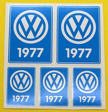 VW 1977 VOLKSWAGEN Year Date stickers INSIDE GLASS BEETLE BAY WINDOW CAMPER