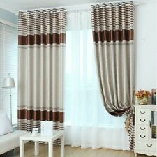WIDE WIDTH European Style Jacquard curtain Brown - 8 Panel pack(INCLUDES SHEERS)