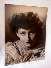 vintage photo dédicacée Colette Schmidt 1936  18 x 24 cm