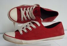 Ralph Lauren Polly 3.5  EU 36 cherry red  suede trainers sneakers pumps lace up