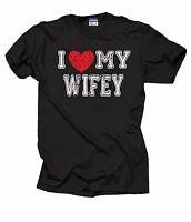 Gift For Husband I Love My Wifey Tee Shirt Anniversary Birthday Gift