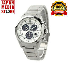 Citizen BL5530-57A Attesa Eco-Drive Metal Face Chrono Watch 100% Genuine JAPAN