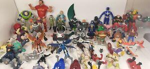 JUNK DRAWER LOT 60 Action Figures, WWF, BEN 10 Star Wars, Marvel, DC, TMNT