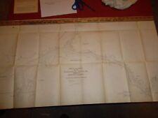 NORFOLK HARBOR VIRGINIA MAP 1906 -  36 X 19 In.  -   Elizabeth River NAVY YARD
