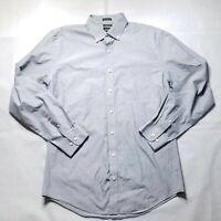Neiman Marcus Trim Fit Button Shirt Casual Dress Mens 16.5 Neck 34/35 Sleeve