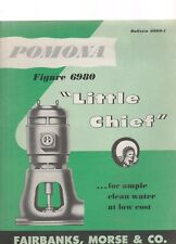 """Fairbanks Morse """"Little Chief"""" Belted Head & Motor Driven Discharge Catalog"""