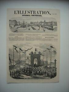 GRAVURE 1858. A SAINT-MALO, ENTREE DE LL. MM. L'EMPEREUR ET L'IMPERATRICE.......