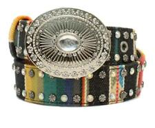Angel Ranch Western Girl Belt Kids Studded Serape Multi Colored D130000097
