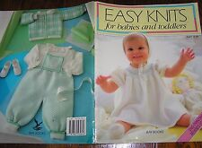 Baby Knitting Pattern Book Easy Knits Babies & Toddlers Layettes Winter Summer