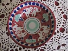 """Dipinto A Mano, Made in Italy, Red/Blue/Green Bowl, 5"""" Wide x 2"""" Tall Bowl"""