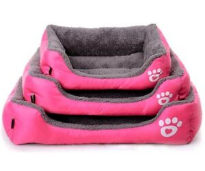 Dog Cat Bed Cushion House Pet Warm Pillow Soft Kennel Blanket Mat Pad S M L