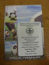 12/05/2012 Programme: London County Saturday Youth League Mini-Soccer Festivals