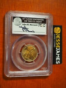 1987 W $5 GOLD CONSTITUTION COMMEMORATIVE PCGS MS69 JOHN MERCANTI SIGNED LABEL