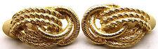 GINNIE JOHANSEN DANSON GJD Earrings Rope Loop Style Clip On Pretty Gold Tone