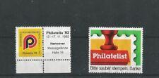 2 German Philatelic Cinderella Poster Stamps