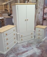 HANDMADE COUNTRY-STYLE BEDROOM (IVORY CREAM +PINE) FURNITURE SET NO FLATPACK)!!!