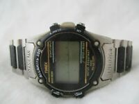 Timex Atlantis 100 Indiglo Black & Silver Toned Digital Wristwatch