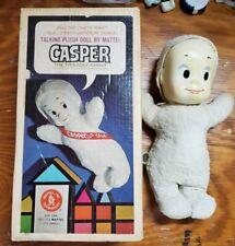 Vintage Mattel Talking Casper Ghost 1962 In Solid Art Box - Super Rare Version