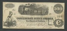 CONFEDERATE STATES - $100  1862  T40  PMG.35  ( American Currency )