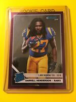 🔥🔥2019 DONRUSS DARRELL HENDERSON 040/500 STAT LINE Rated Rookie #310 LA Rams