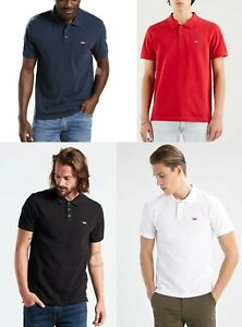 Levis Men Short Sleeve Pique Jersey Ruggers Polo Shirt top T shirt S M L XL 2XL