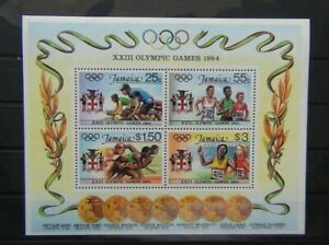 Jamaica 1984 Olympic Games Los Angeles Miniature Sheet MNH