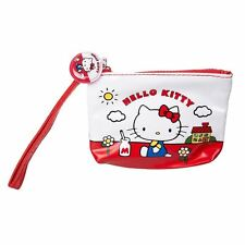 Official Hello Kitty 1976 Artwork design Coin Purse with Wrist Strap