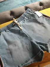 LIGHT BLUE LADIES GUESS SHORTS BNWT SIZE 16