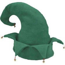 Green Elf Hat Christmas Santa's Helper Cap Adult Costume Party Headwear