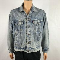 Vintage Levi's Men's Acid Washed Denim Jean Trucker Jacket Size XL70507-0219