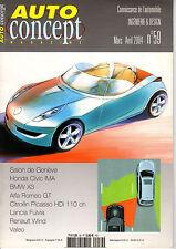 REVUE MAGAZINE AUTO CONCEPT N°59 03/04 2004 HONDA CIVIC BMW X3 ALFA LANCIA VALEO