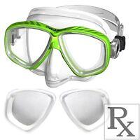 RX Prescription Optical Scuba Dive Snorkel Purge Mask Farsighted +1.0 to +4.5
