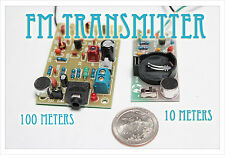DIY electronic Kit - Dual FM radio Combo transmitter sound  mic kit PCB bug spy