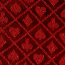 NEW 10 section of red two tone poker table speed cloth  Polyester by Brybelly