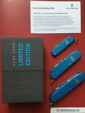 Victorinox 3x Alox limited Edition 2020 Pioneer Classic Cadet aqua blau