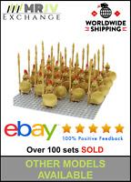 21 Minifigures Gold Spartan Warrior Spartacus Shield Toys Block Custom UK