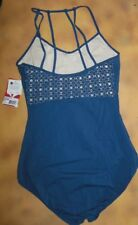 NWT CAPEZIO CAMISOLE LEOTARD super Strappy Back Extra large adult Ink blue MC819