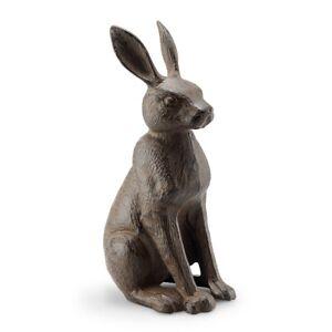 Good Listener Rabbit Garden Sculpture Cast Iron