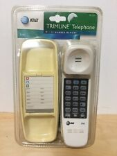 AT&T Telephone Push Button Corded Desk Wall Mount Home Trimline #210 Phone White