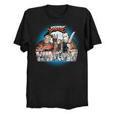 Freddy Krueger vs. Jason Voorhees As Street Fighter Funny Killer Black T-Shirt